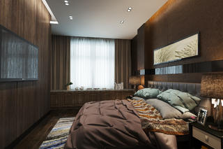 70㎡现代简约家卧室效果图