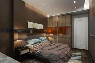 70㎡现代简约家床头背景墙图片