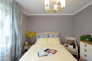 110平混搭三居装修床头背景墙图片