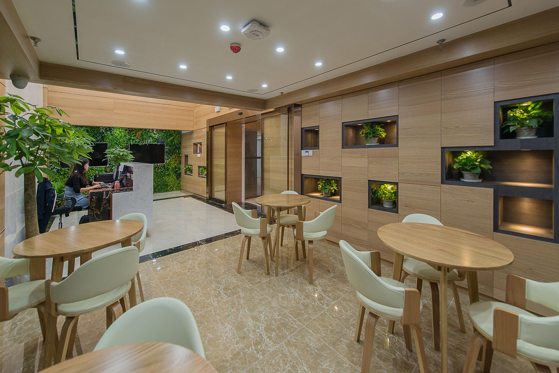 绿色人文办公楼装修休闲区