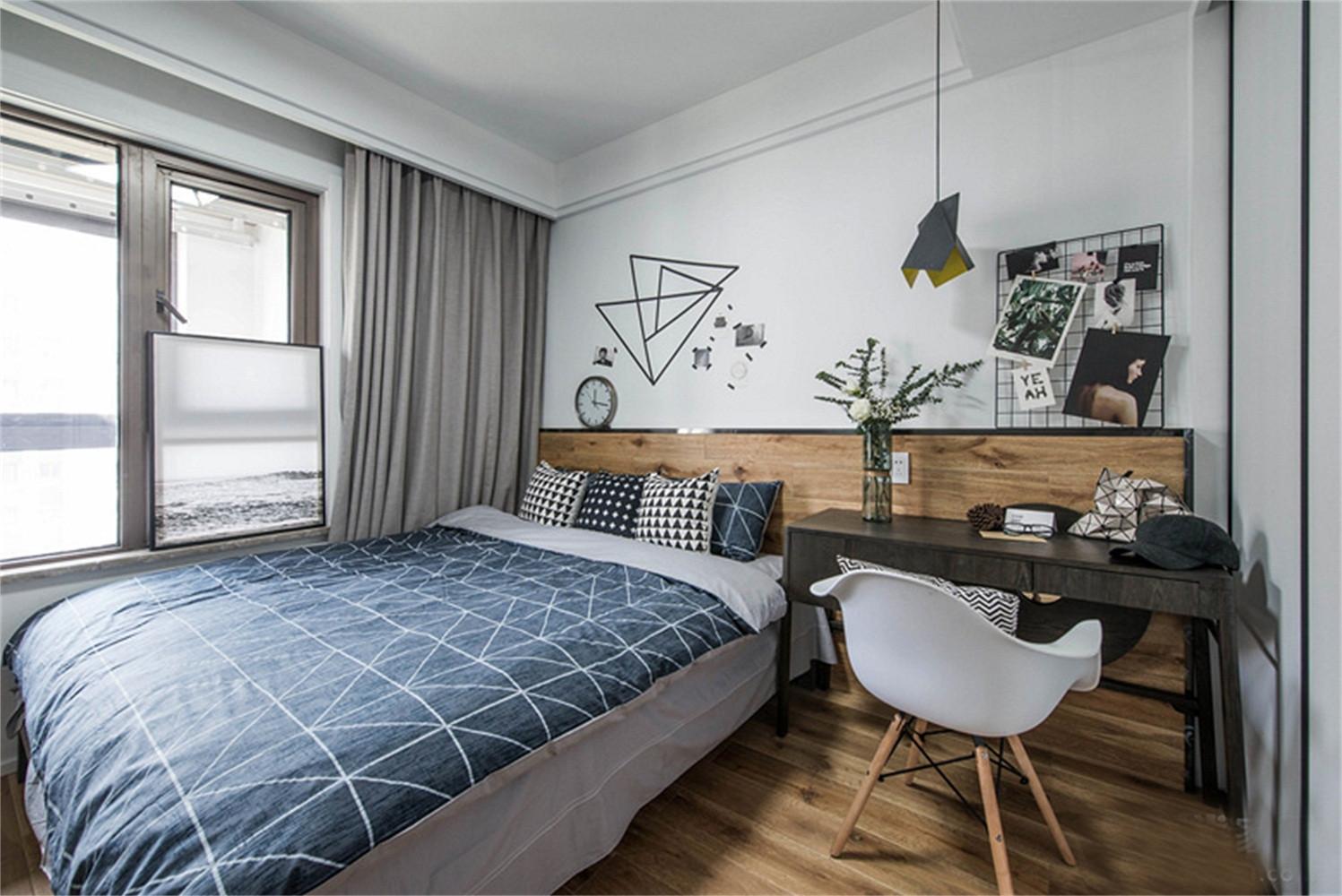 90平北欧风格家卧室设计图