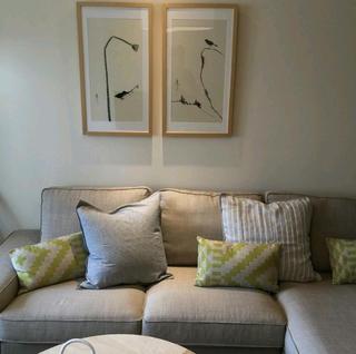 二居室日式风格家沙发背景墙图片
