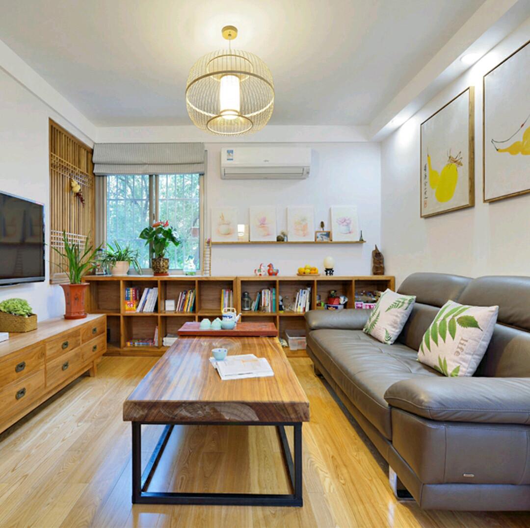 乡村日式三居之家客厅布置图