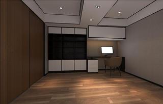大户型现代简约装修书房设计图