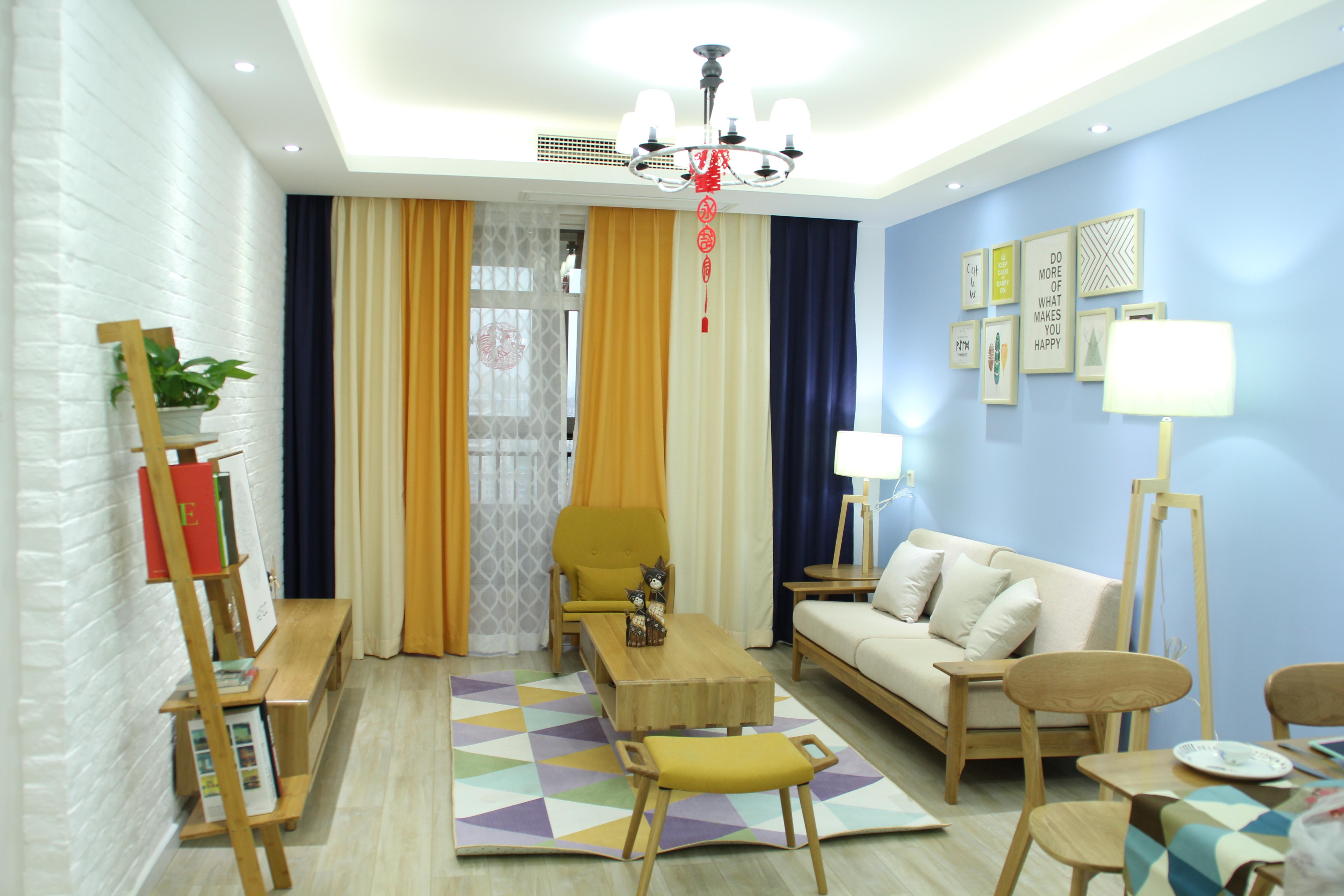 二居室北欧风格家客厅效果图