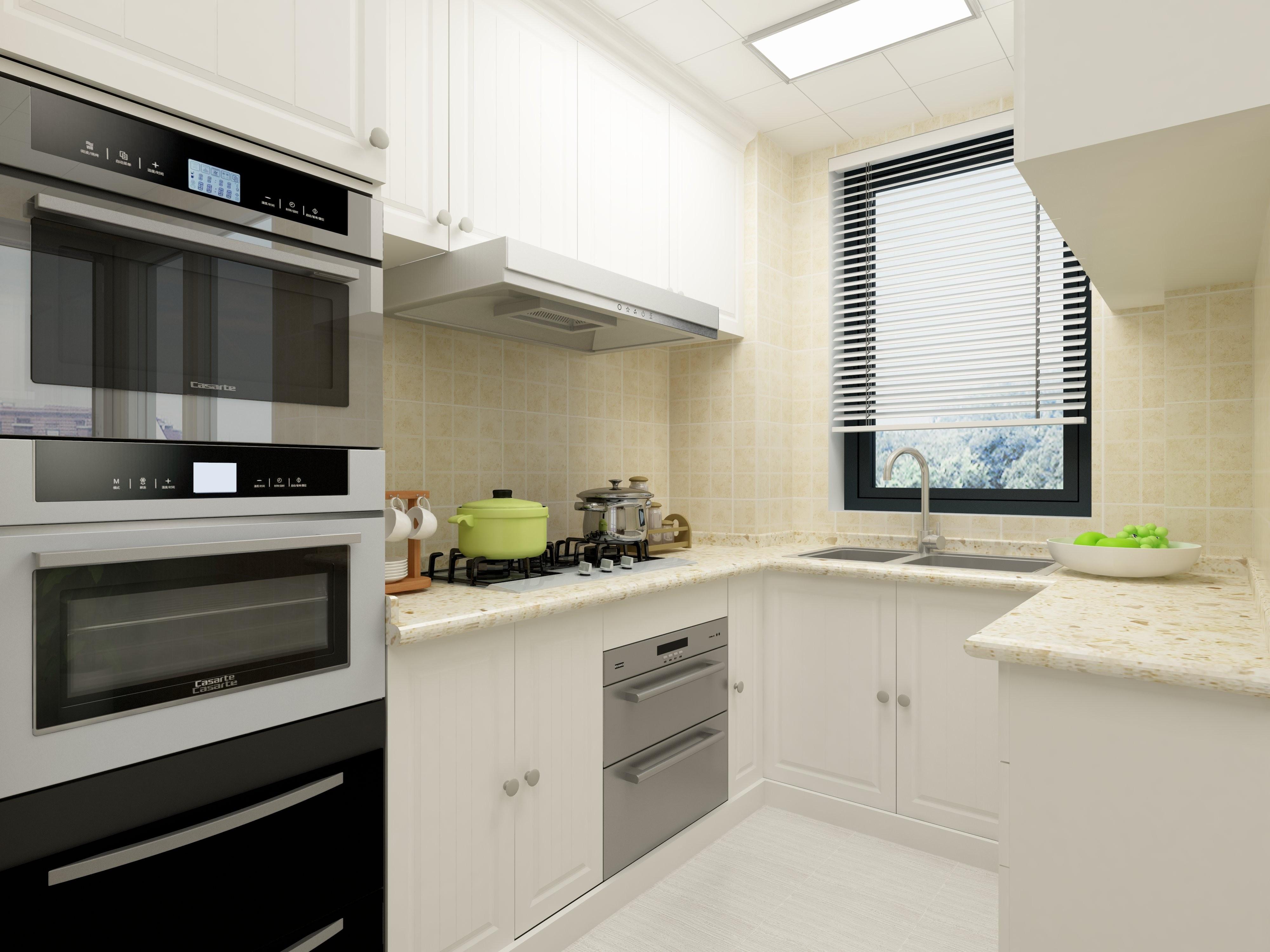 简美三居装修厨房效果图