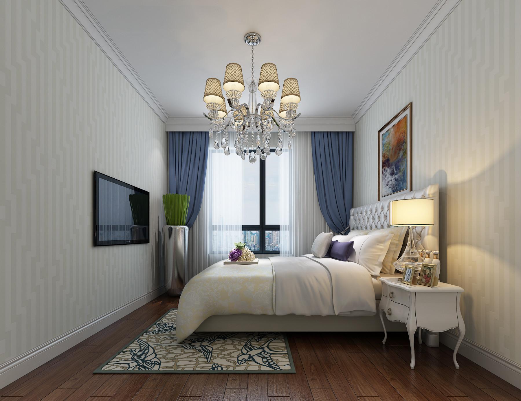 185平现代欧式装修客房布置图