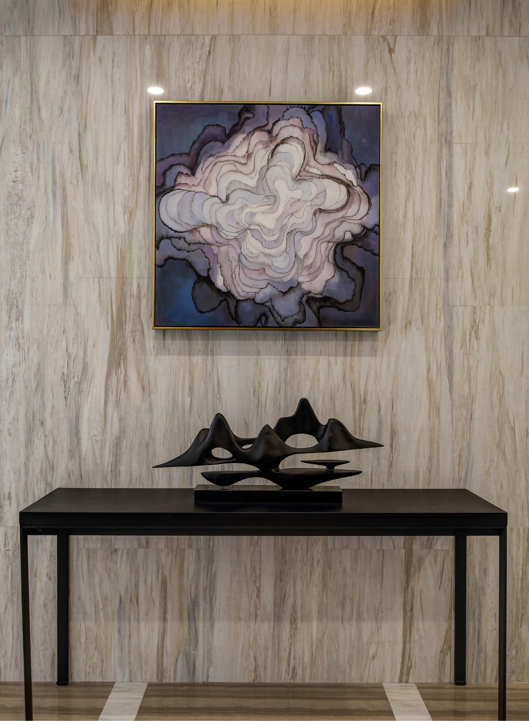 现代简约二居室装修玄关效果图