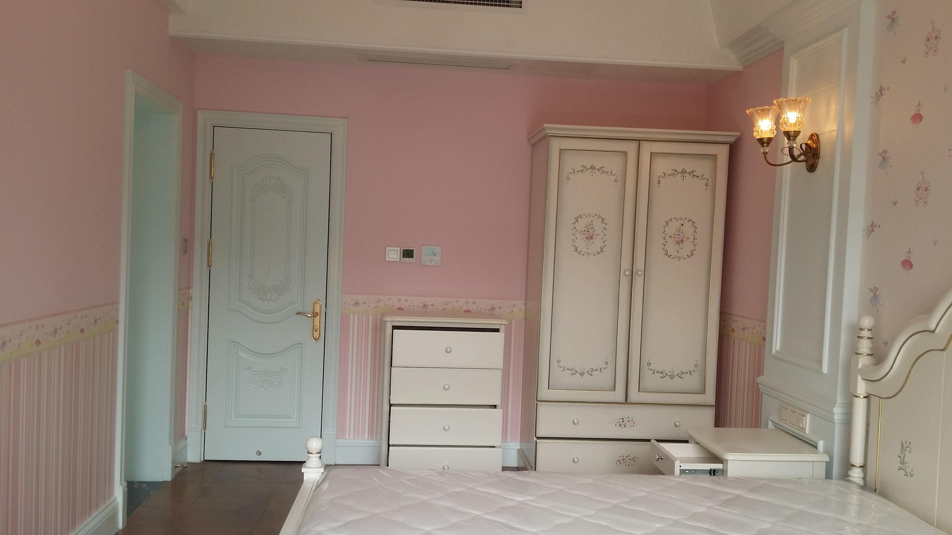 欧式别墅装修女儿房衣柜图片