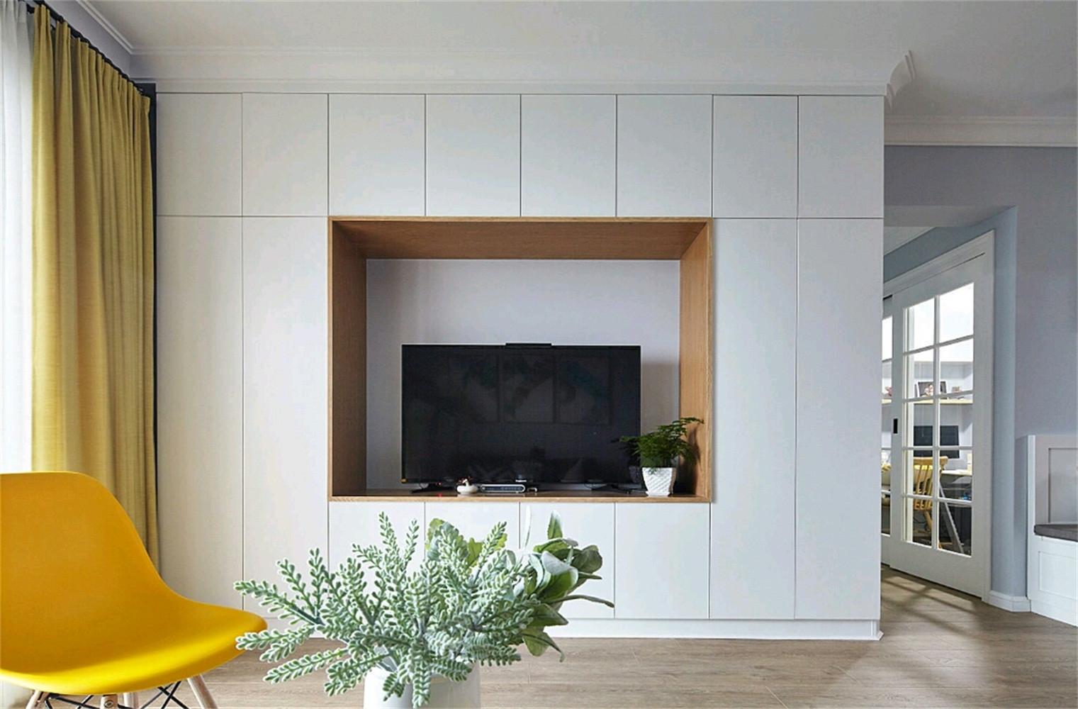 北欧四房装修电视柜图片