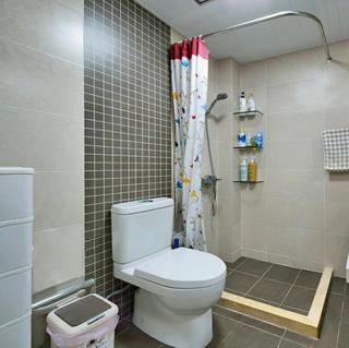 乡村日式三居之家卫生间效果图