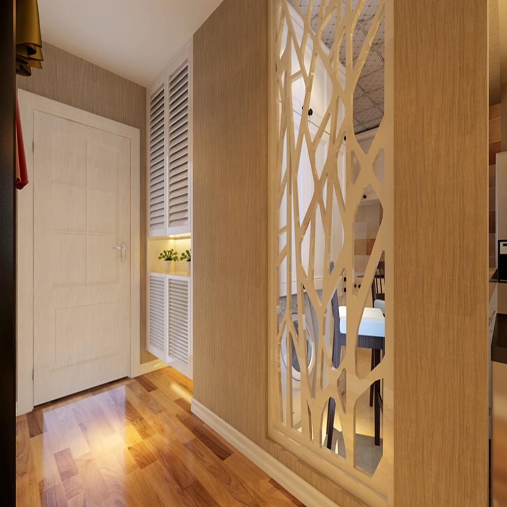 100㎡现代简约风装修玄关设计图