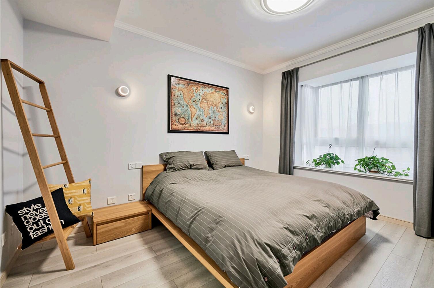 120平北欧风之家主卧设计图