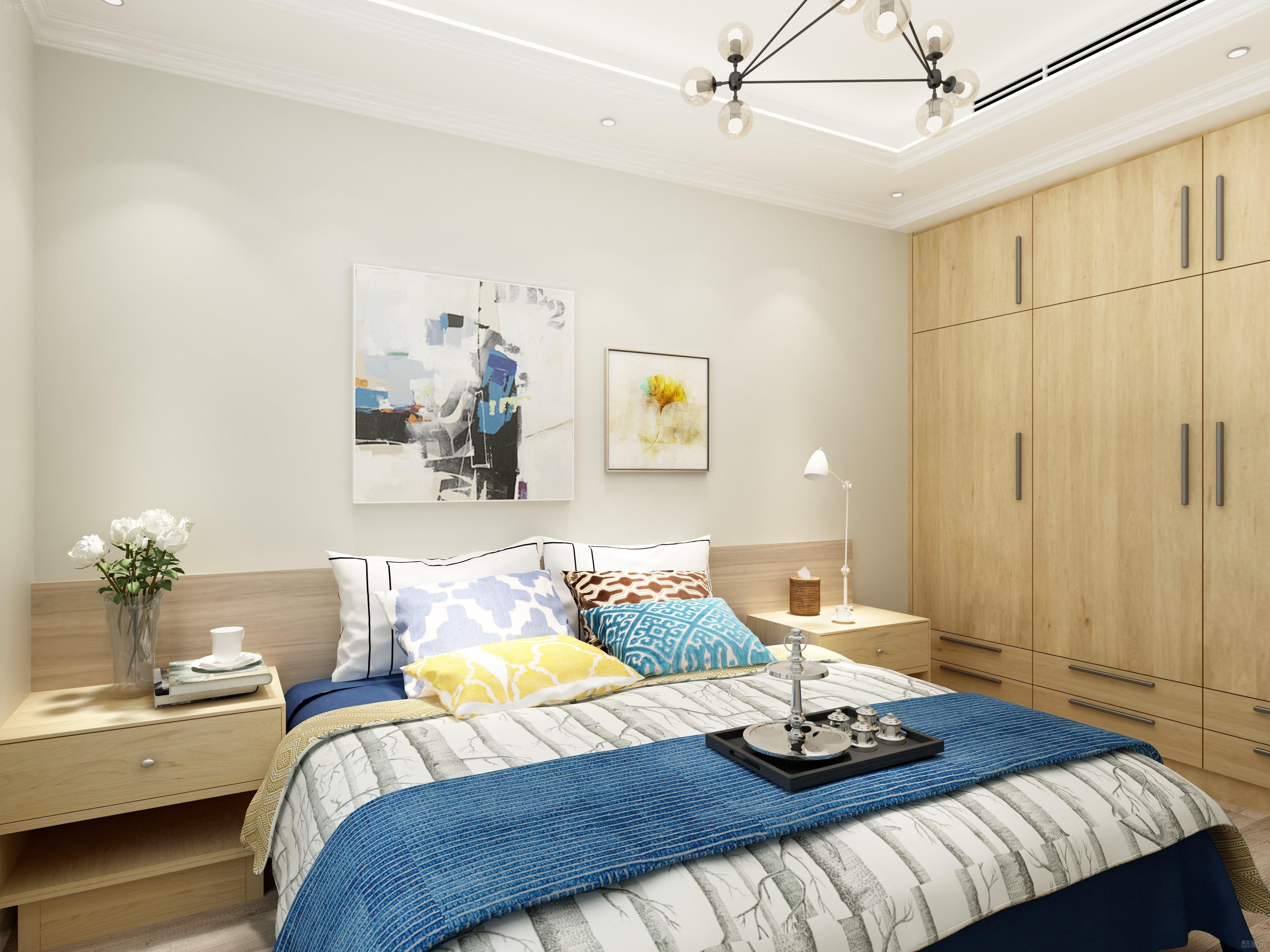 90平三居装修卧室设计图