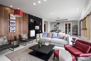 现代简约二居室装修沙发图片