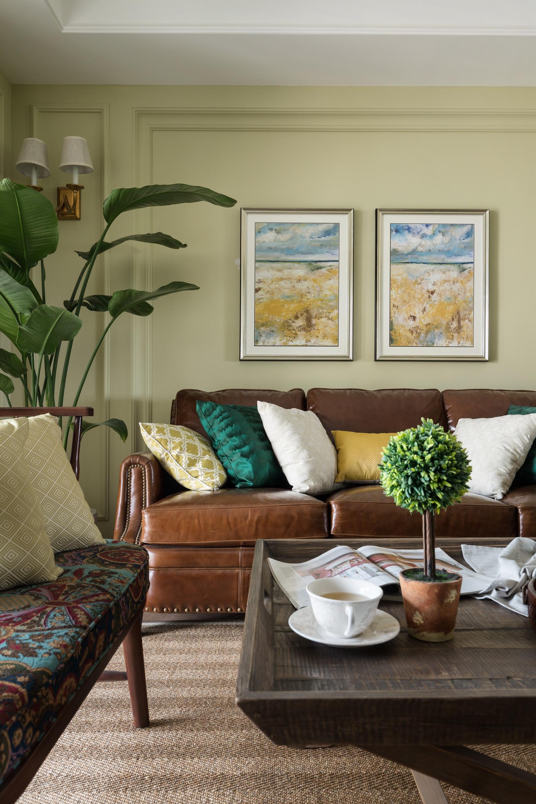 128平美式风格家沙发图片