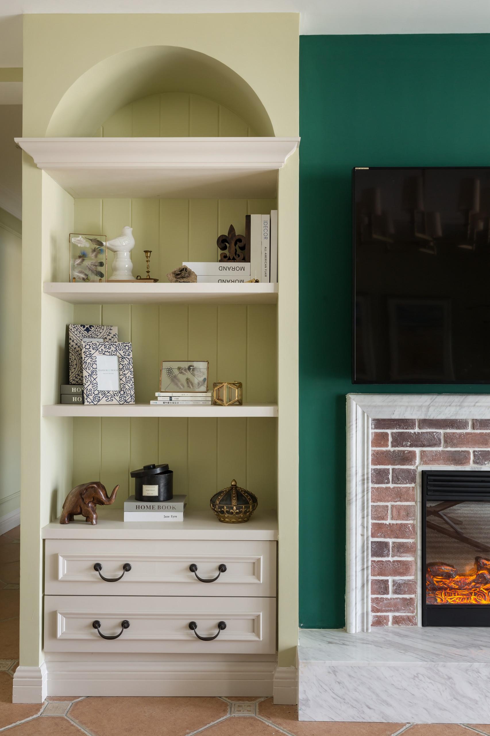 128平美式风格家电视背景墙图片