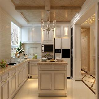 欧式复式装修厨房效果图