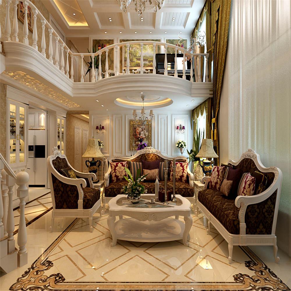 欧式复式装修客厅效果图