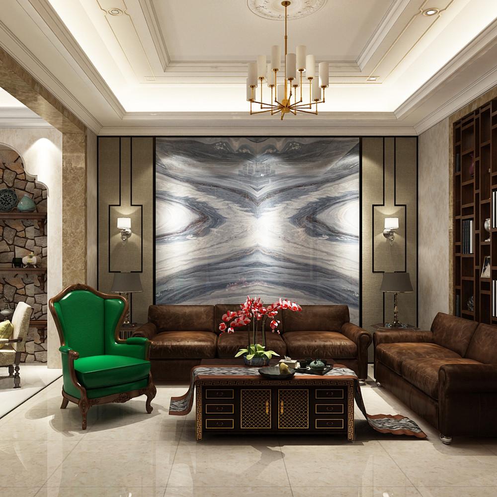混搭别墅装修沙发背景墙图片