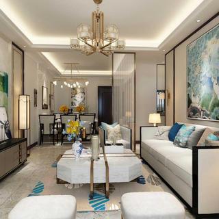 新中式三居装修设计 时尚沉稳