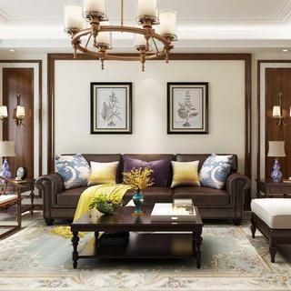四居室美式风格装修效果图