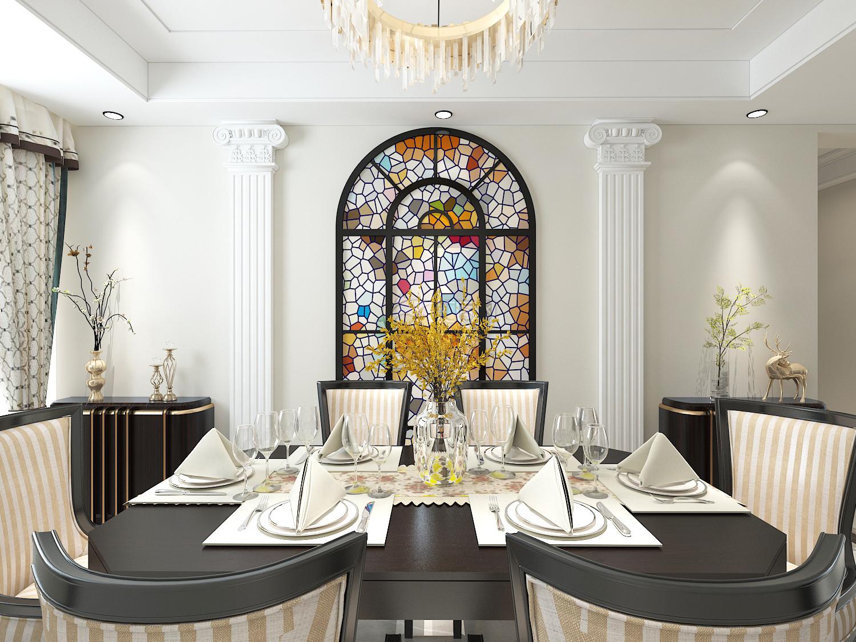 四居室简约风格装修餐厅效果图