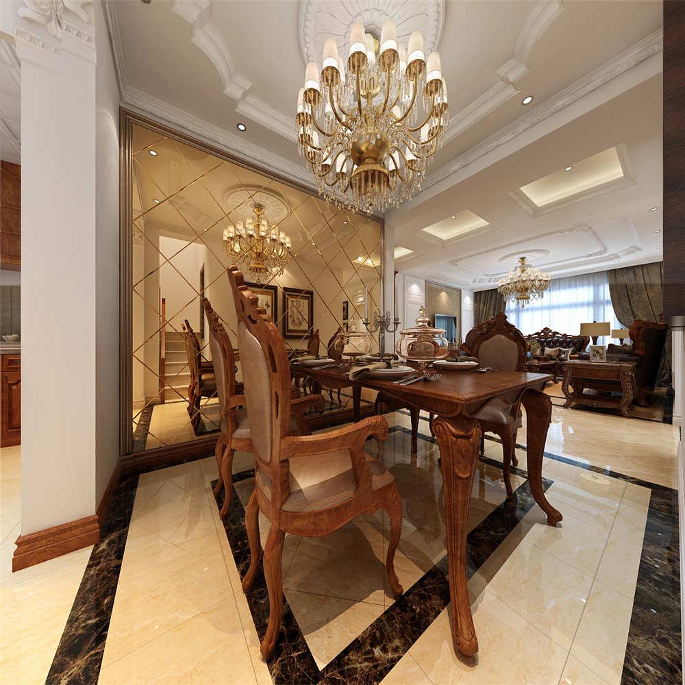 150平简欧风格装修餐厅搭配图