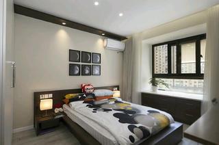 90㎡简约三居室装修卧室布置图