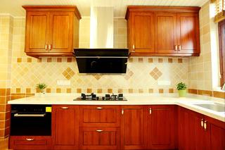 自然北欧风三居装修厨房设计图