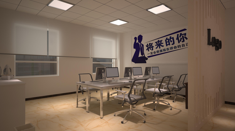 现代简约办公室装修公共办公区