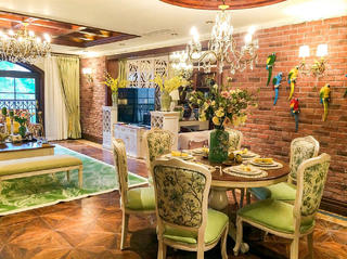 140平美式乡村家餐厅设计图
