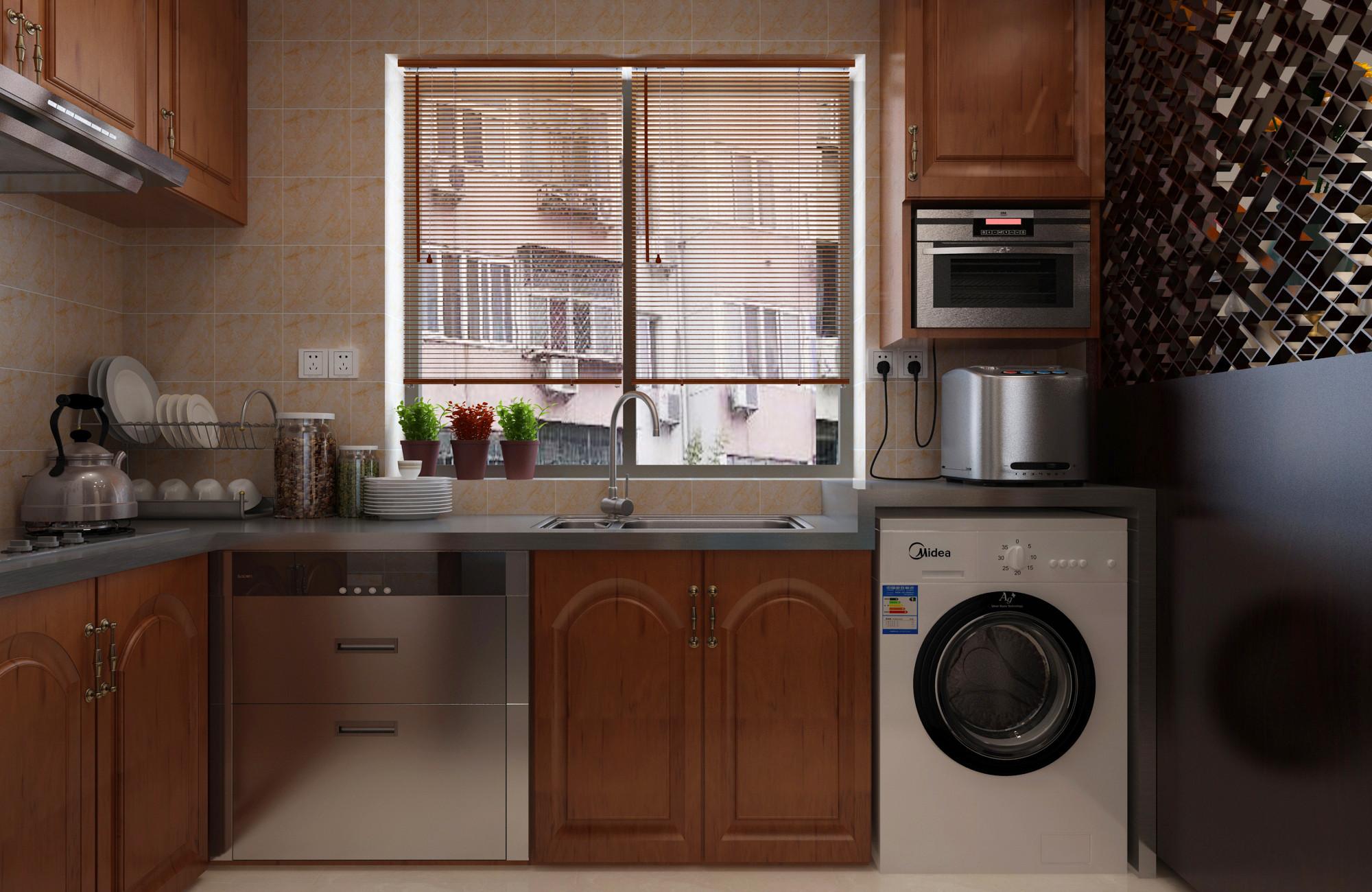 中式复式装修厨房效果图
