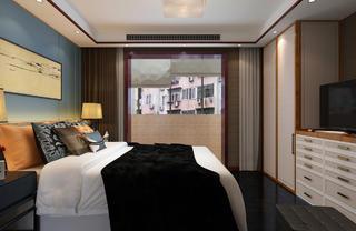 中式复式装修卧室效果图