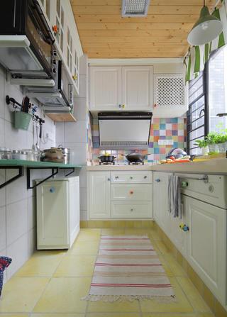 90平田园风装修厨房构造图