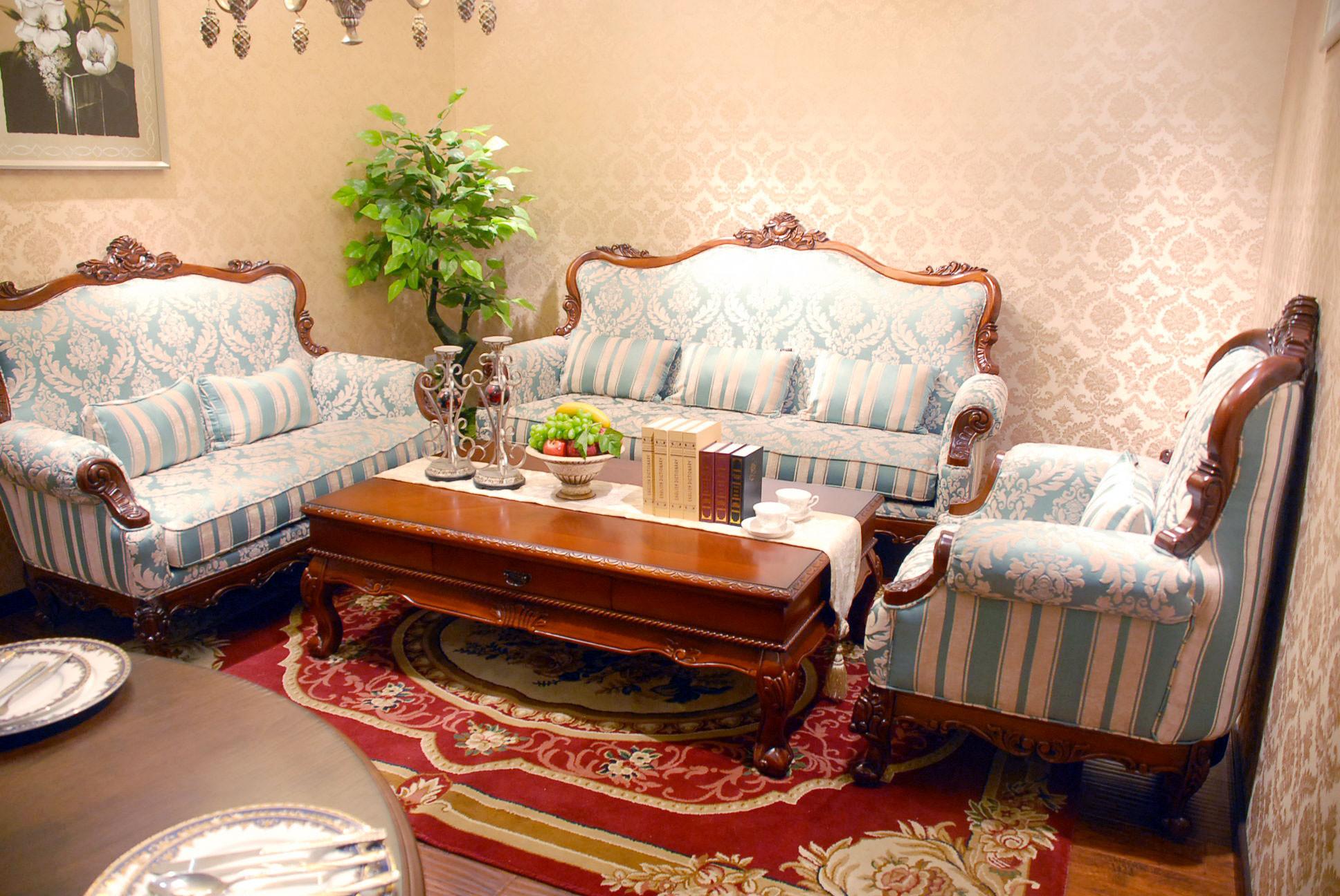 光彩夜宴家具盛惠  路易登堡3303布艺沙发1+2+3