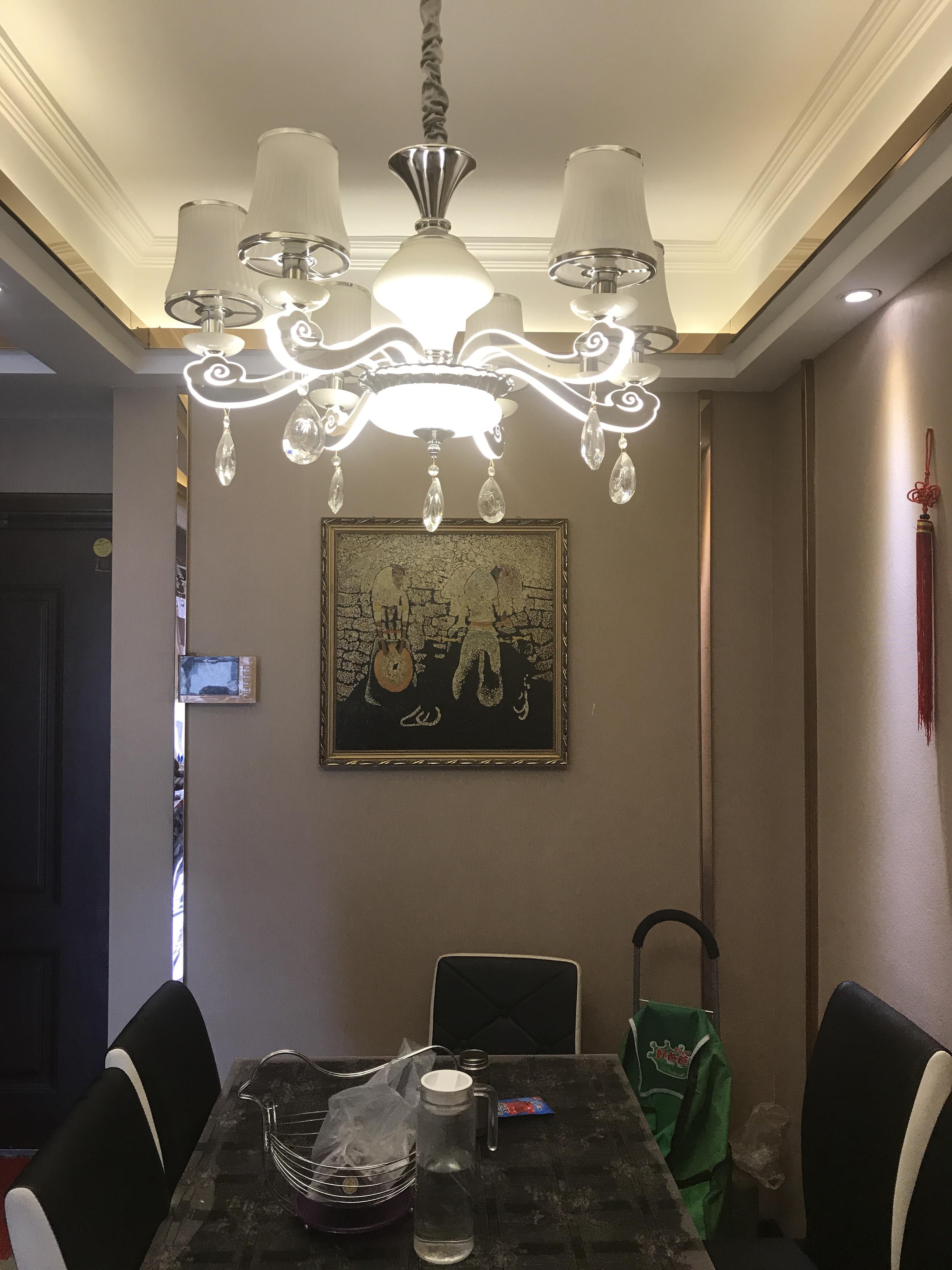 100㎡现代混搭装修餐厅吊灯图片