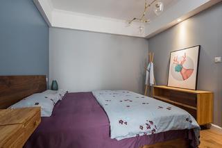 80平北欧风格家卧室效果图