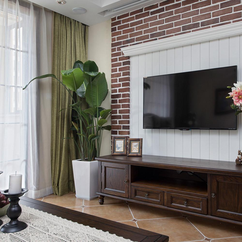 89平简美之家电视背景墙图片