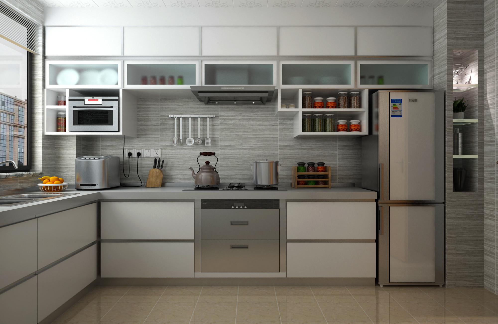 100平简约装修厨房效果图
