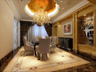 大户型新古典豪华装修餐厅设计图