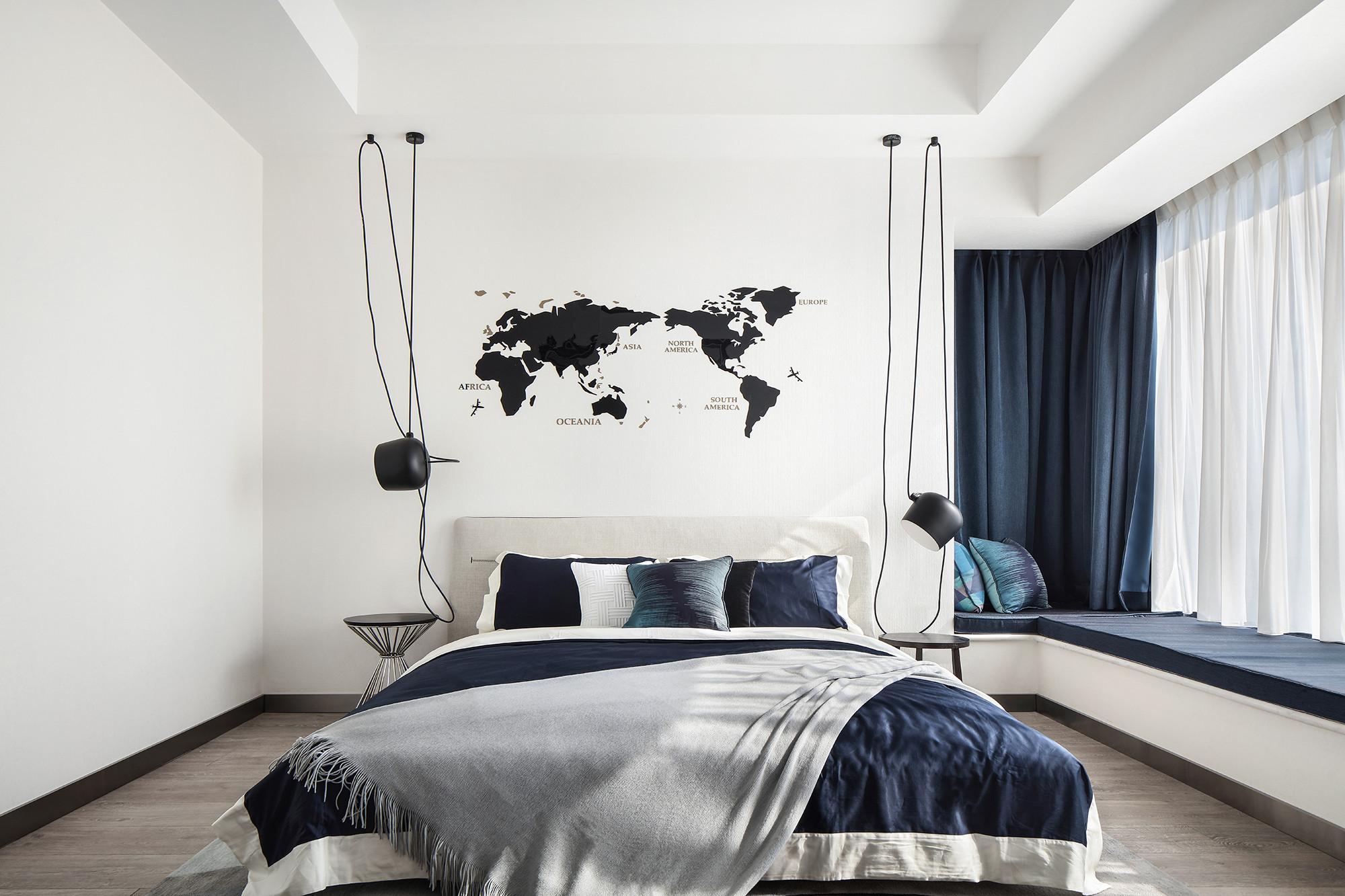 现代简约风格客厅3层别墅舒适女生小卧室设计图