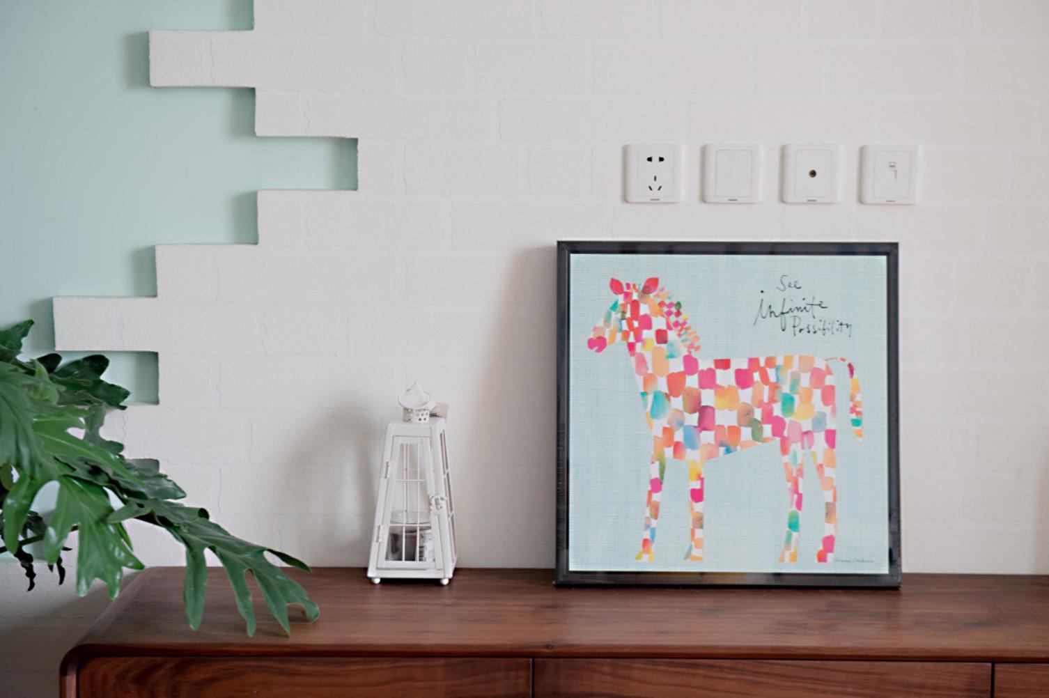 北欧三居室装修装饰画图片
