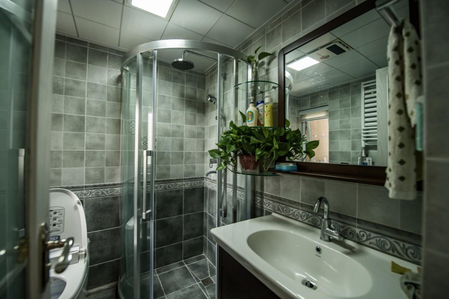 北欧三居室装修卫生间效果图