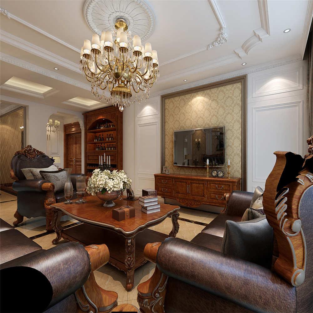 150平简欧风格装修客厅效果图
