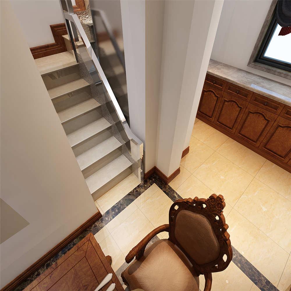 150平简欧风格装修楼梯图片