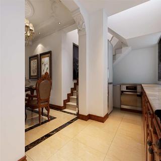 150平简欧风格装修楼梯一角