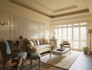 美式四居装修客厅效果图