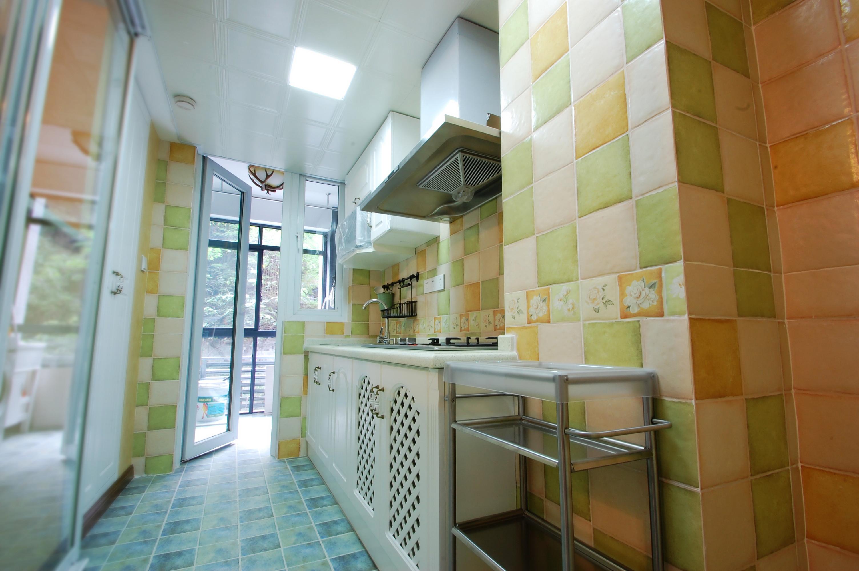 小户型美式一居装修厨房装潢图