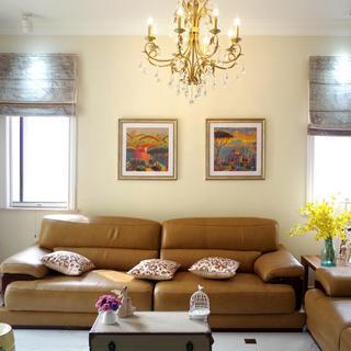 美式三居室装修设计实景图